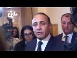 Премьер-министр Армении Овик Абраамян встретился с журналистами в парламенте 4 декабря 2014 года