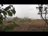 Танки Ополчения ведут огонь по позициям Украинских силовиков 26 07 14