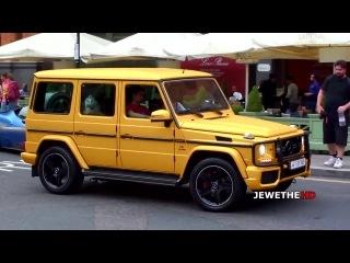 Arab MATTE GOLD Mercedes-Benz G63 AMG Start Up & Cruising in London!