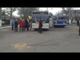 Поездка мэра,губернатора и гостей города Николаев на 2х новых троллейбусов (МАЗ 3010 и 3011)
